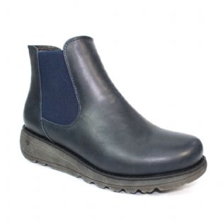Lunar Womens Dazzle Navy Thick Sole Chelsea Boots